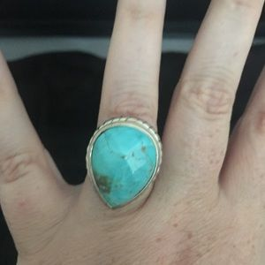 Barse Sterling Silver chunky turquoise ring 8
